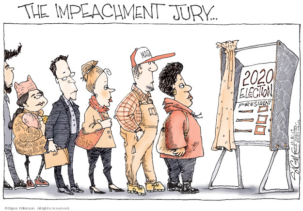 Cartoonist Signe Wilkinson  Signe Wilkinson's Editorial Cartoons 2019-11-21 2020 election