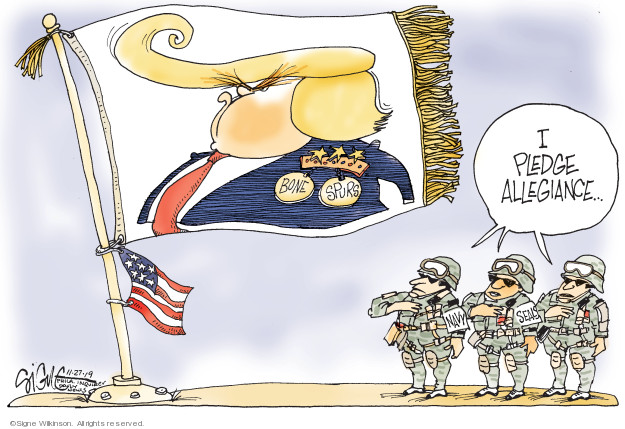 Cartoonist Signe Wilkinson  Signe Wilkinson's Editorial Cartoons 2019-11-27 armed forces