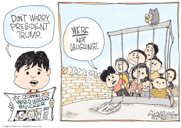 Cartoonist Signe Wilkinson  Signe Wilkinson's Editorial Cartoons 2019-12-06 United States