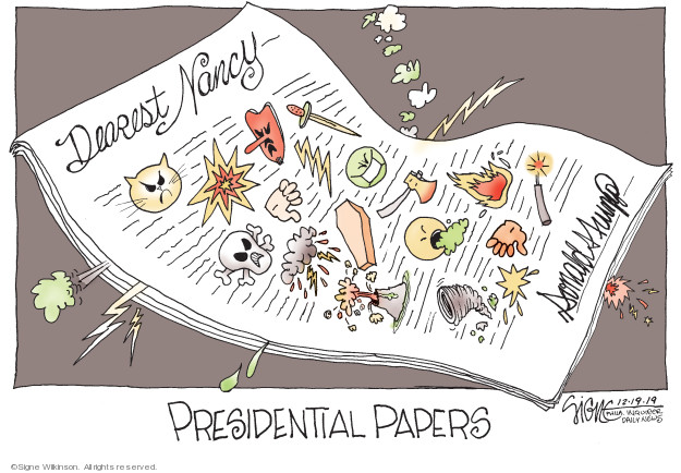 Signe Wilkinson  Signe Wilkinson's Editorial Cartoons 2019-12-20 majority