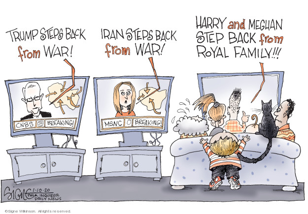 Cartoonist Signe Wilkinson  Signe Wilkinson's Editorial Cartoons 2020-01-10 Iraq
