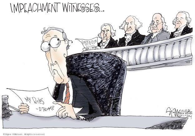 Signe Wilkinson  Signe Wilkinson's Editorial Cartoons 2020-01-15 majority leader
