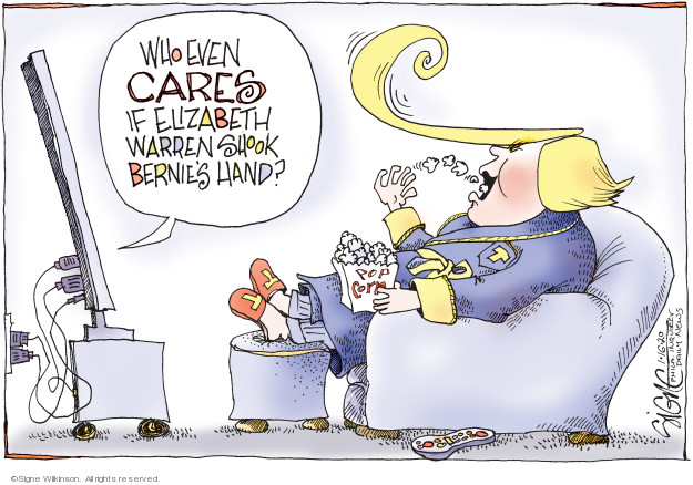 Cartoonist Signe Wilkinson  Signe Wilkinson's Editorial Cartoons 2020-01-16 2020 election