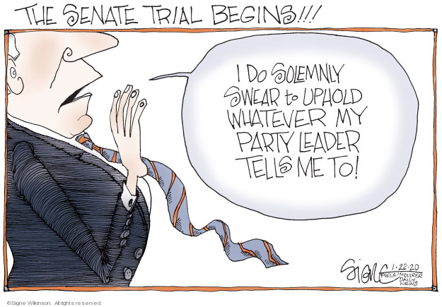 Signe Wilkinson  Signe Wilkinson's Editorial Cartoons 2020-01-22 congressional leadership