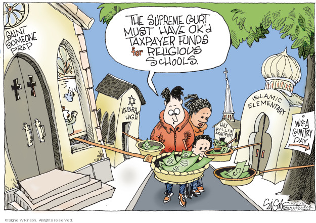 Cartoonist Signe Wilkinson  Signe Wilkinson's Editorial Cartoons 2020-01-23 Supreme Court