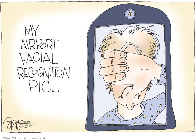 Cartoonist Signe Wilkinson  Signe Wilkinson's Editorial Cartoons 2020-01-27 airport security