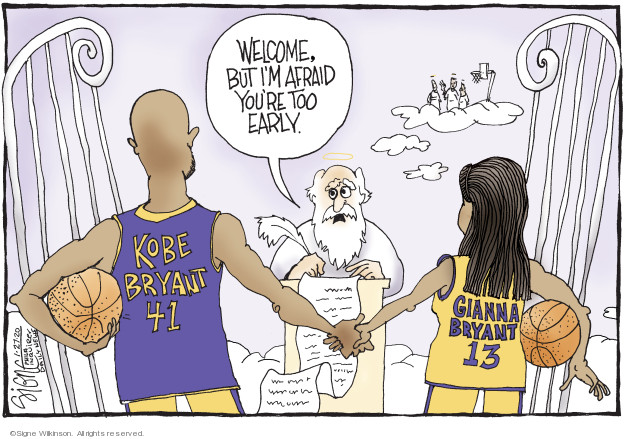 Cartoonist Signe Wilkinson  Signe Wilkinson's Editorial Cartoons 2020-01-28 athlete