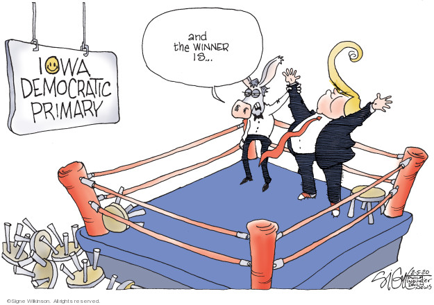 Cartoonist Signe Wilkinson  Signe Wilkinson's Editorial Cartoons 2020-02-05 candidate