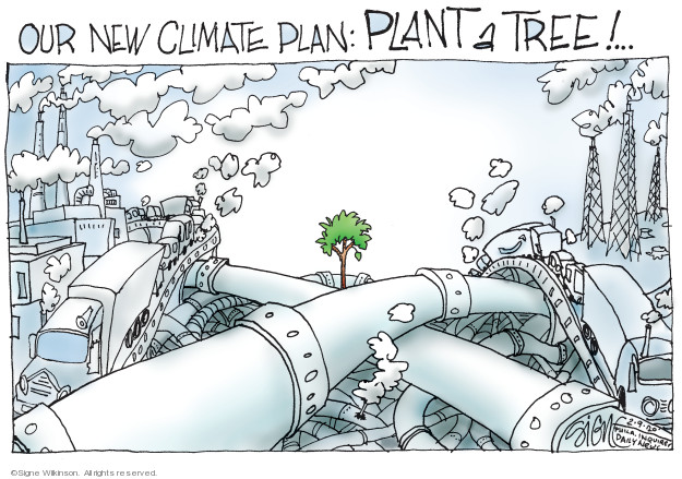 Cartoonist Signe Wilkinson  Signe Wilkinson's Editorial Cartoons 2020-02-09 policy