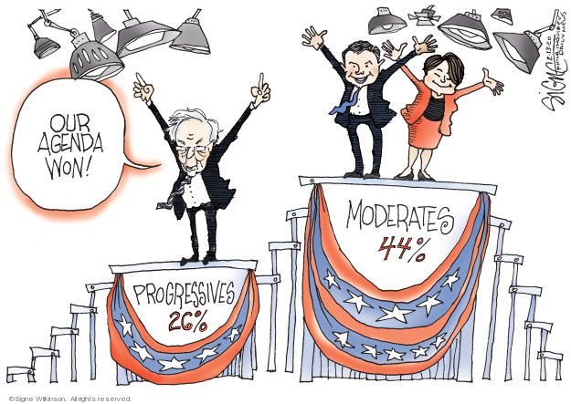 Cartoonist Signe Wilkinson  Signe Wilkinson's Editorial Cartoons 2020-02-13 candidate