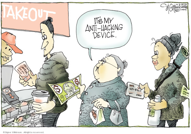 Signe Wilkinson  Signe Wilkinson's Editorial Cartoons 2020-02-14 money
