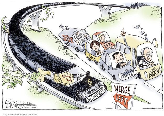 Cartoonist Signe Wilkinson  Signe Wilkinson's Editorial Cartoons 2020-02-15 finance