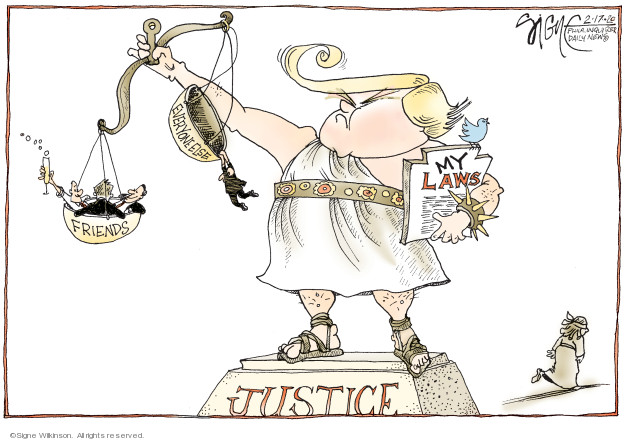 Signe Wilkinson  Signe Wilkinson's Editorial Cartoons 2020-02-17 judicial branch
