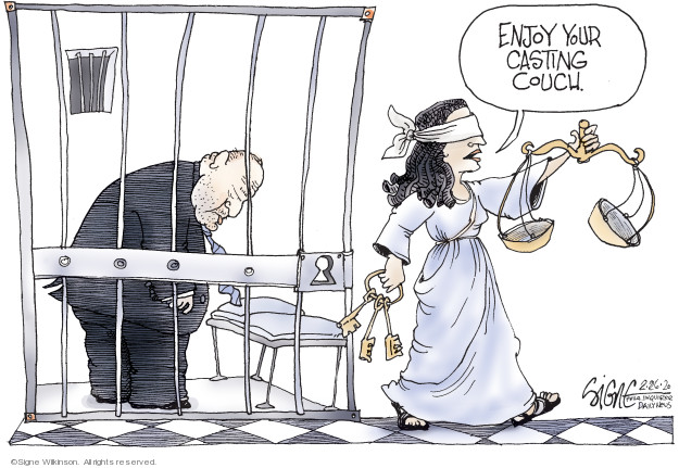 Cartoonist Signe Wilkinson  Signe Wilkinson's Editorial Cartoons 2020-02-26 sexual assault