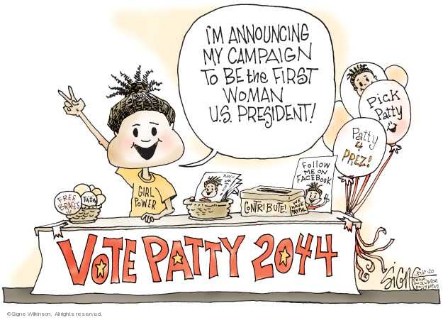 Cartoonist Signe Wilkinson  Signe Wilkinson's Editorial Cartoons 2020-03-10 2020 election