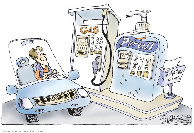 Signe Wilkinson  Signe Wilkinson's Editorial Cartoons 2020-03-12 coronavirus