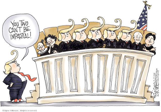 Signe Wilkinson  Signe Wilkinson's Editorial Cartoons 2020-02-27 supreme court justice