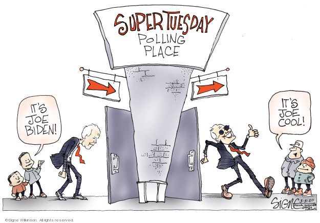 Cartoonist Signe Wilkinson  Signe Wilkinson's Editorial Cartoons 2020-03-05 2020 election