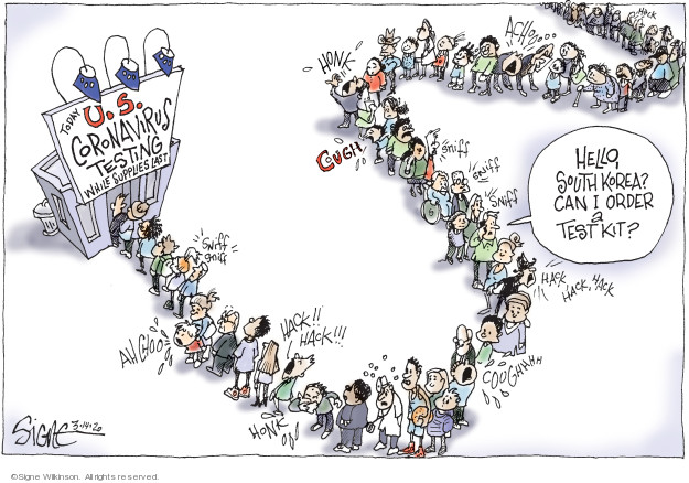 Cartoonist Signe Wilkinson  Signe Wilkinson's Editorial Cartoons 2020-03-14 United States
