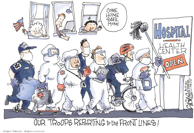 Cartoonist Signe Wilkinson  Signe Wilkinson's Editorial Cartoons 2020-03-17 health care