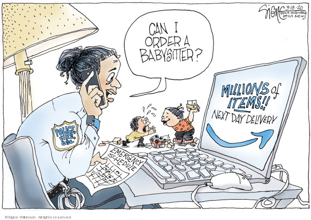 Signe Wilkinson  Signe Wilkinson's Editorial Cartoons 2020-03-18 emergency