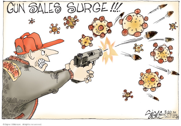 Signe Wilkinson  Signe Wilkinson's Editorial Cartoons 2020-03-20 shooting