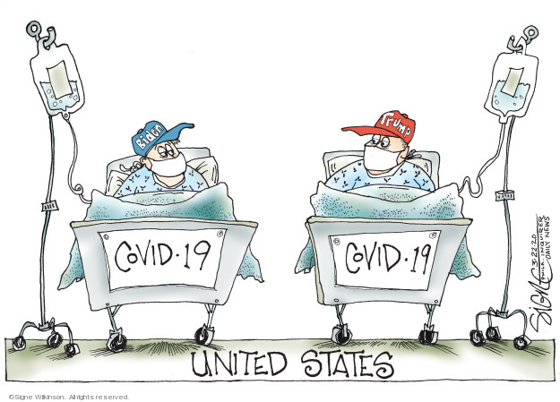 Cartoonist Signe Wilkinson  Signe Wilkinson's Editorial Cartoons 2020-03-22 2020 election