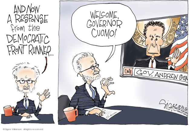 Cartoonist Signe Wilkinson  Signe Wilkinson's Editorial Cartoons 2020-03-26 2020 election