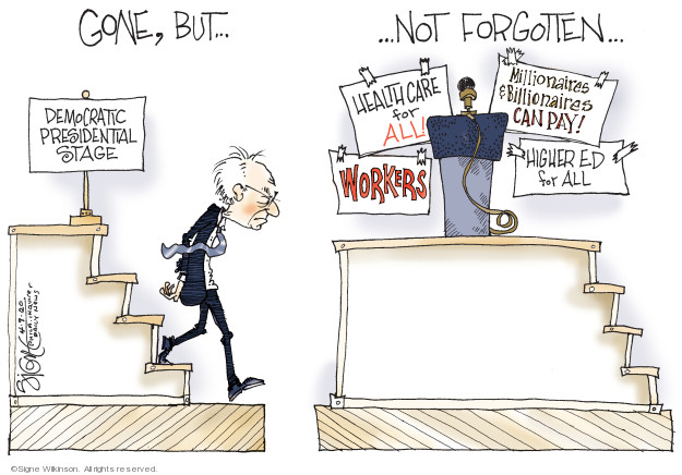 Cartoonist Signe Wilkinson  Signe Wilkinson's Editorial Cartoons 2020-04-09 2020 election