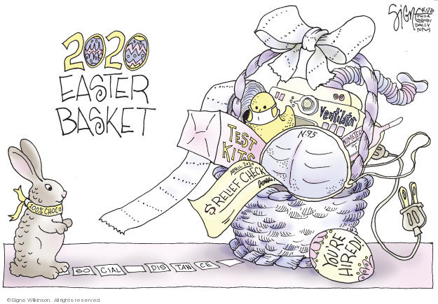 Signe Wilkinson  Signe Wilkinson's Editorial Cartoons 2020-04-12 basket