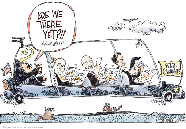 Cartoonist Signe Wilkinson  Signe Wilkinson's Editorial Cartoons 2020-04-15 presidential
