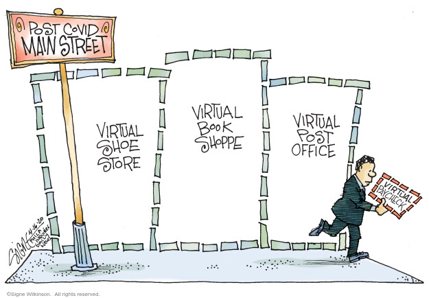 Cartoonist Signe Wilkinson  Signe Wilkinson's Editorial Cartoons 2020-04-16 employee