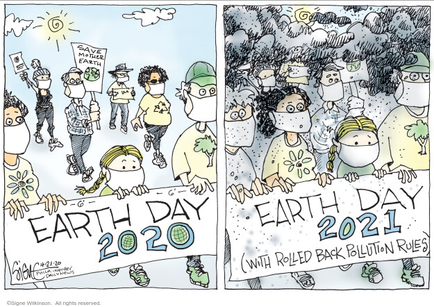 Signe Wilkinson  Signe Wilkinson's Editorial Cartoons 2020-04-21 environment