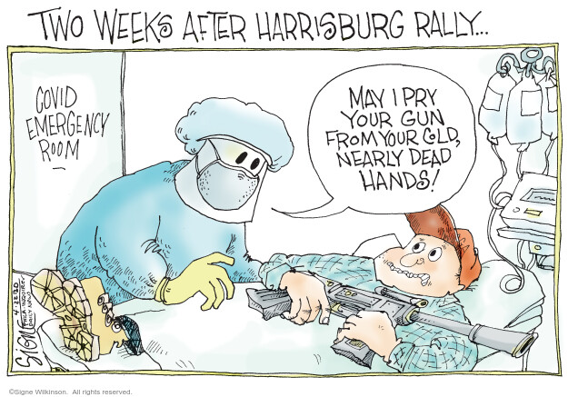 Cartoonist Signe Wilkinson  Signe Wilkinson's Editorial Cartoons 2020-04-22 health care