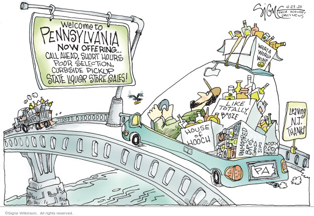 Cartoonist Signe Wilkinson  Signe Wilkinson's Editorial Cartoons 2020-04-23 Pennsylvania