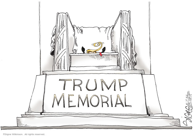 Cartoonist Signe Wilkinson  Signe Wilkinson's Editorial Cartoons 2020-05-07 presidential