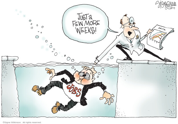 Cartoonist Signe Wilkinson  Signe Wilkinson's Editorial Cartoons 2020-05-12 virus