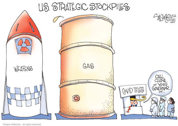Signe Wilkinson  Signe Wilkinson's Editorial Cartoons 2020-05-14 weaponry