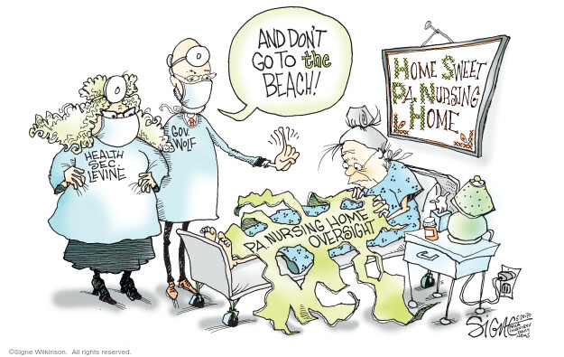 Cartoonist Signe Wilkinson  Signe Wilkinson's Editorial Cartoons 2020-05-20 epidemic