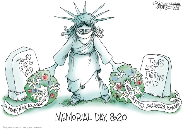 Cartoonist Signe Wilkinson  Signe Wilkinson's Editorial Cartoons 2020-05-24 epidemic
