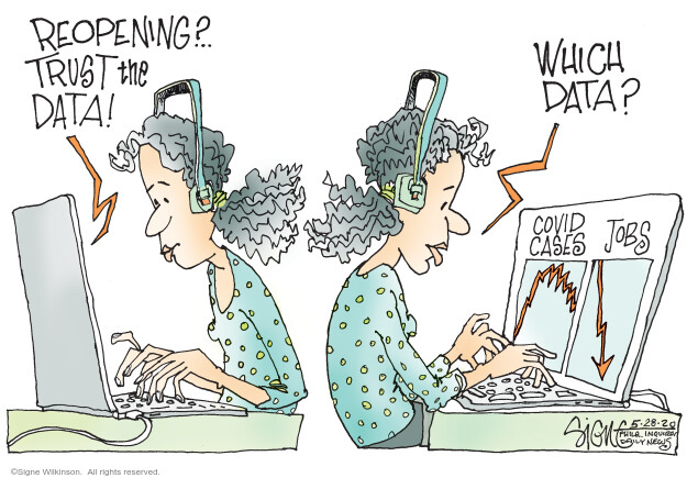 Cartoonist Signe Wilkinson  Signe Wilkinson's Editorial Cartoons 2020-05-28 epidemic