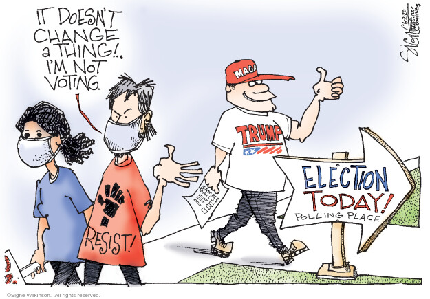Signe Wilkinson  Signe Wilkinson's Editorial Cartoons 2020-06-02 voting rights