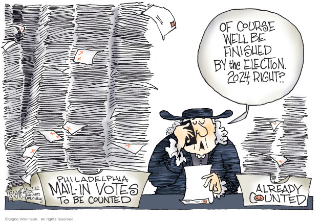 Cartoonist Signe Wilkinson  Signe Wilkinson's Editorial Cartoons 2020-06-10 presidential