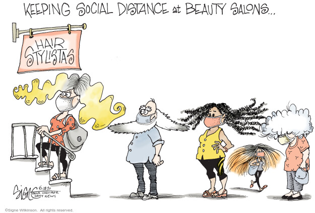 Cartoonist Signe Wilkinson  Signe Wilkinson's Editorial Cartoons 2020-06-18 epidemic