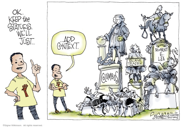 Cartoonist Signe Wilkinson  Signe Wilkinson's Editorial Cartoons 2020-06-21 editorial