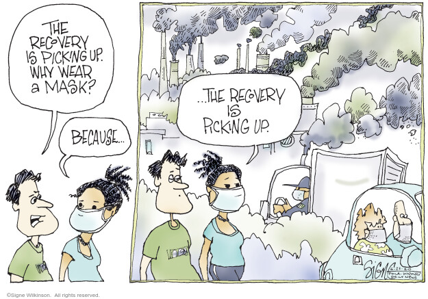 Cartoonist Signe Wilkinson  Signe Wilkinson's Editorial Cartoons 2020-06-23 epidemic