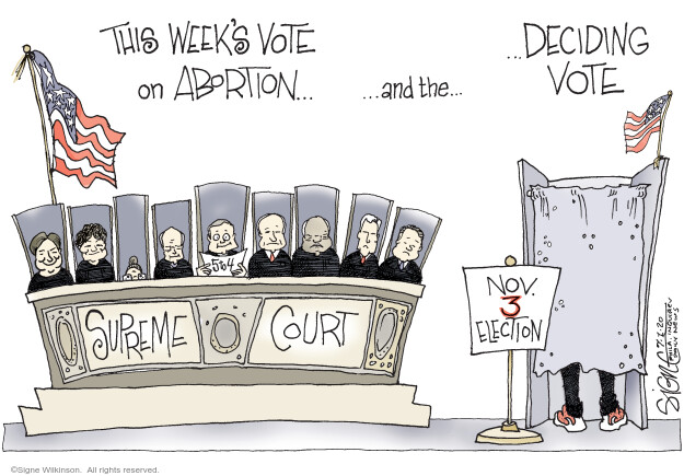 Cartoonist Signe Wilkinson  Signe Wilkinson's Editorial Cartoons 2020-07-01 Supreme Court