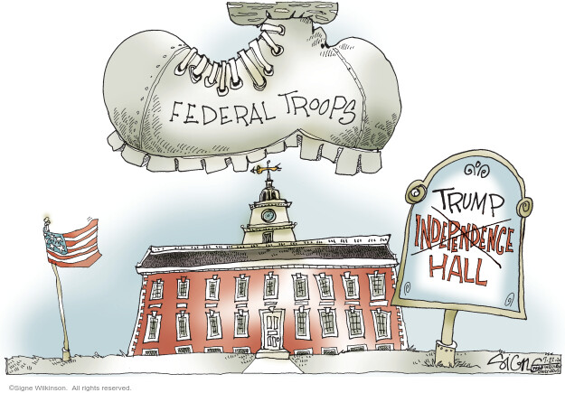 Signe Wilkinson  Signe Wilkinson's Editorial Cartoons 2020-07-22 presidential candidate