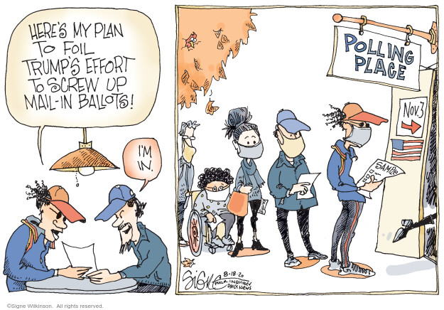 Signe Wilkinson  Signe Wilkinson's Editorial Cartoons 2020-08-18 administration