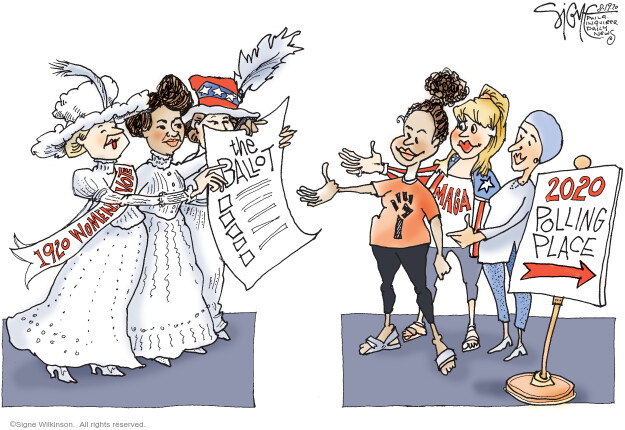 Signe Wilkinson  Signe Wilkinson's Editorial Cartoons 2020-08-19 1920s